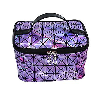 Homemiyn Colorful Makeup Bag Pvc Laser With Handle Waterproof