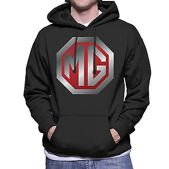 MG Shiny Red En Chrome Logo British Motor Heritage Men's Hooded Sweatshirt
