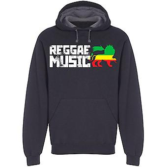 Reggae Music Rasta Colors Lion Huppari Men's -Kuva: Shutterstock