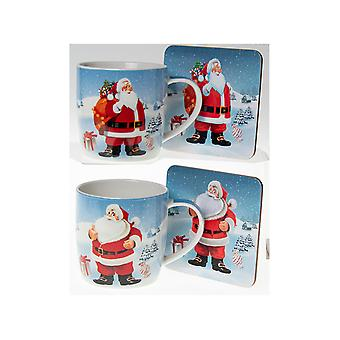 Joe Davies Jolly Santa Mug & Coaster Set LP51906