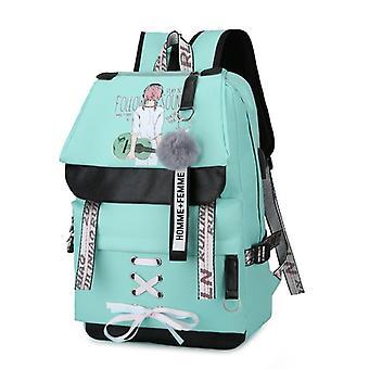 Canvas Usb School Bags Teenagers Backpack, Women Bookbags