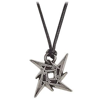 Metallica Necklace Pendant Ninja Star band logo new Official Alchemy Siver