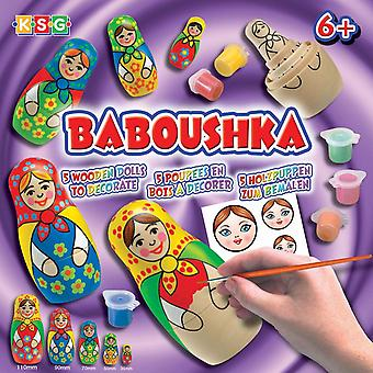 Sequin art ksg arts and crafts baboushka 0925 russian doll painting kit matroshka