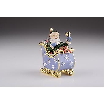Santa In Carriage Trinket Box