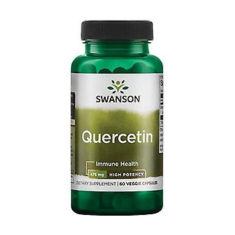 Premium quercetin - high potency 475mg 60 vegetable capsules of 475mg