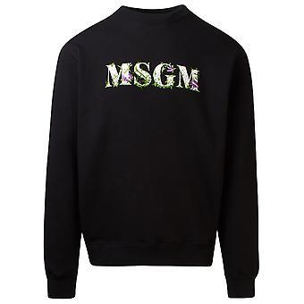Msgm 2940mm21920759999 Mænd's Sort Bomuld Sweatshirt