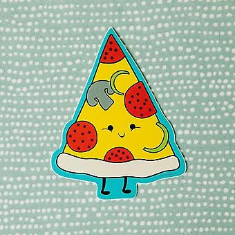 The Happiest Slice Of Pizza Vinyl Decal Sticker
