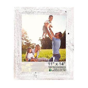 11x14 Rustic White washed Picture Frame with Plexiglass Holder