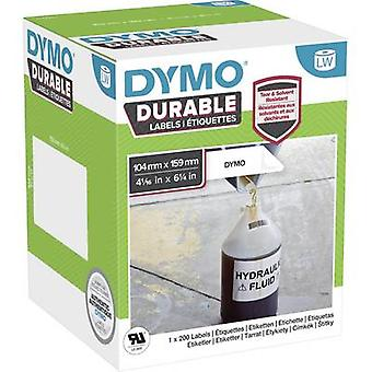 DYMO 2112287 Label roll 159 x 104 mm PE film White 200 pc(s) Permanent All-purpose labels, Address labels