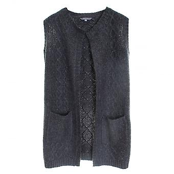 Lily & Me Cable Knit Long Line Marl Ladies Cardigan
