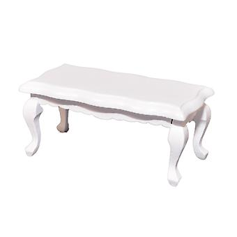 Dolls House White Scalloped Coffee Table Shabby Chic Living Room Furniture