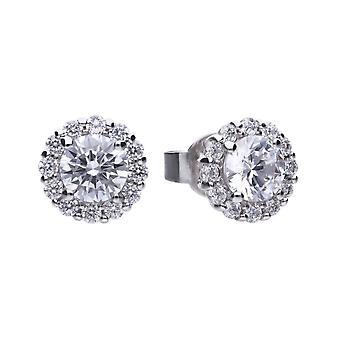 Diamonfire E5576 Round Cluster Earrings