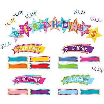 Vibes coloridos feliz cumpleaños Mini Boletín Conjunto