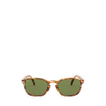 Persol PO3234S striped brown & yellow male sunglasses