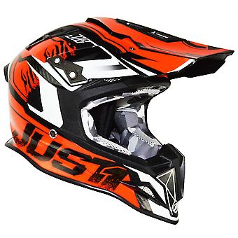 Just1 J12 Carbon Dominator Adult ACU Gold MX Helmet - Orange