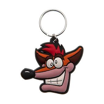 Crash Bandicoot Face Rubber Keyring