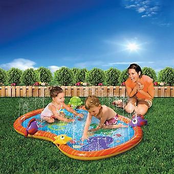 Frog Inflatable Water Spray Play Mat- Outdoor Lawn Games Pad Yard Sprinkler