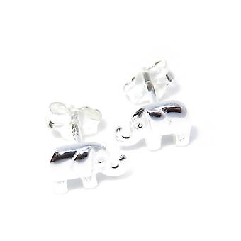 Tiny Elephant Sterling Silver Stud Oorbellen .925 X 1 Paar Studs
