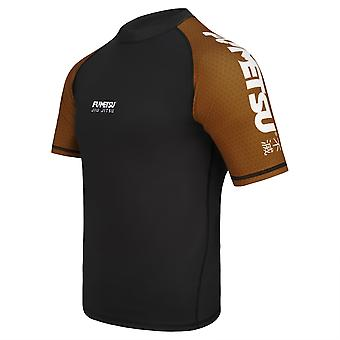 Fumetsu Concurrent MK1 Short Sleeve Rash Guard Brown