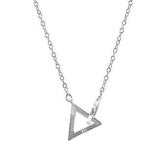 ANCHOR & CREW geometrische Dreieck Link Paradies Silber Halskette Anhänger