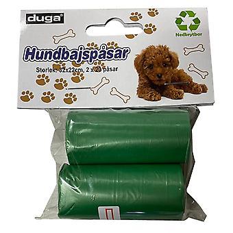 Hund poop Taschen 2 rollen eine 20 Taschen