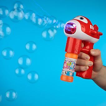Fun kids musical aircraft bubble gun red
