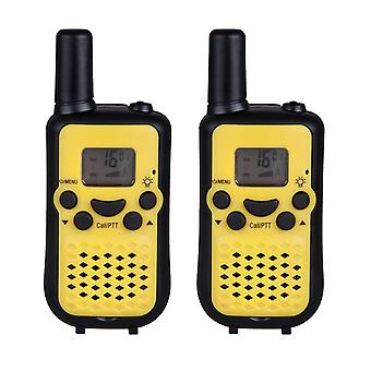 KALOAD T-669 2Pcs Portable Mini Durable Kids Walkie Talkies 2 Way Radio Back-lit LCD Screen