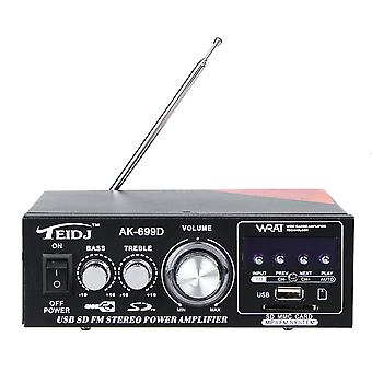 TEIDJ AK-699D 220V Mini-kortin stereokaiuttimen tehovahvistin Pieni tehovahvistin