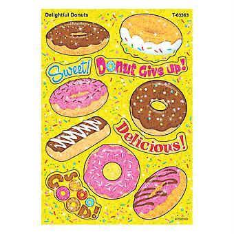 Deliciosas pegatinas de brillo de donuts, 22 condes