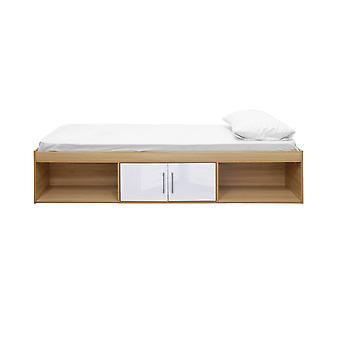 Darcy Cabin Bed Oak-White