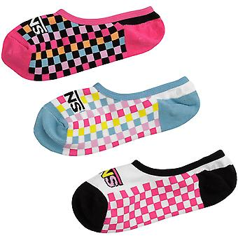 Vans Girls 3 Pack Zoo Check Canoodle Ankle Trainer Pop Socks - 13.5K-3.5 Royaume-Uni