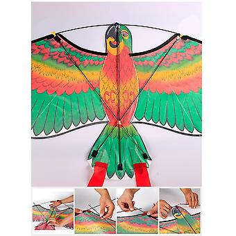 3d Parrots Kite Flying  With 50m String Design