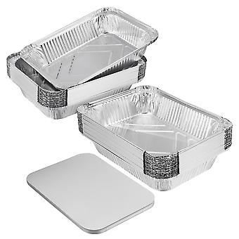20x alumiinifoliovuoka-astia Kertakäyttöinen Bbq-paahtouuni Leivonnaiset 229x170x46mm