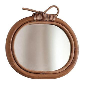 الروطان الجدار مرآة الديكور الشمال خمر جولة يشكلون مرآة شنقا ديكور التفاح الفن قلادة غرفة نوم المنزل