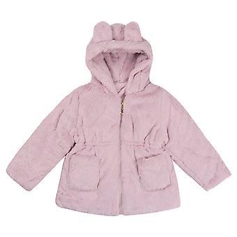 Soft Princess Girls Cute Bunny Winter Outerwear Pink 90cm