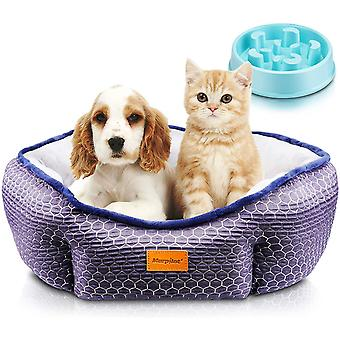 morpilot Pet Bed for Cats and Small Medium Dogs, Comfortable Puppy Dog Bed with Round Detachable