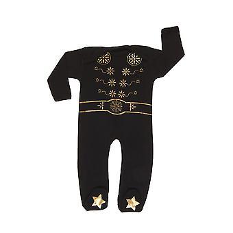 Rockabye baby elvis king sleepsuit black 0-3m