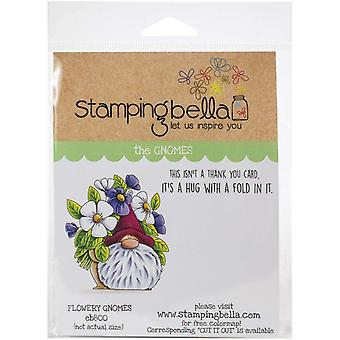 Stamping Bella Cling Stamps - Flowery Gnome