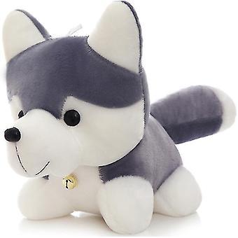 Suloinen muhkea husky koira, pehma pehmoleluun lelu