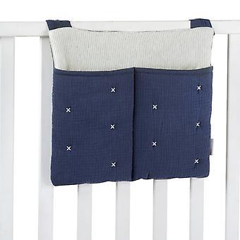 Niebieska bawełniana torba na pieluchy z tetra