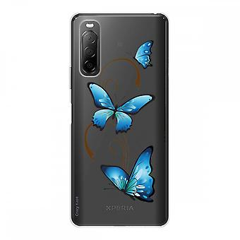 Romp voor Sony Xperia 10 Ii in siliconen flexibel 1 mm, vlinder op Arabesque
