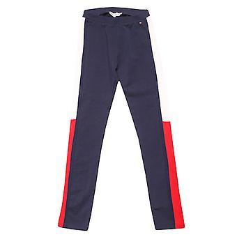 Meisje Tommy Hilfiger Junior Icons Slim Logo Jog Pant in Blauw