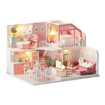 Diy dřevěná miniaturní sada domečku pro panenky