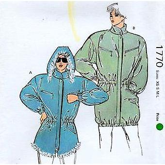 Kwik Sew 1770 Misses Loose-fitting Jacket Sewing Pattern Sizes XS-S-M Designed Light to Medium Weight Woven Fabric