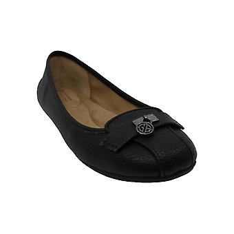 Giani Bernini Womens langley Leather Round Toe Slide Flats