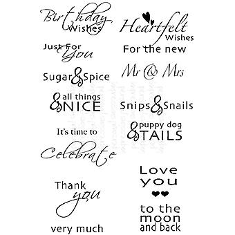 Sweet Dixie Inside Out Sentiments - Clear Stamp