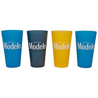 Modelo Cerveza Flerfarvet 4-Pack Plastic 22 Ounce Cups