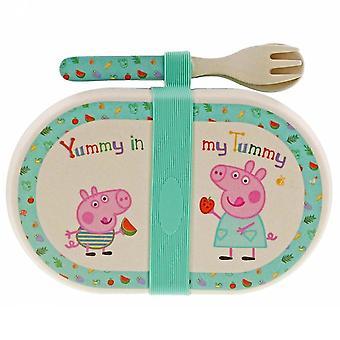 Peppa Pig - Bambu snack box setti