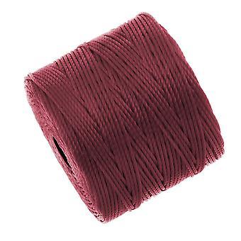 Super-Lon (S-Lon) Cord - Size #18 Twisted Nylon - Dark Red (77 Yard Spool)