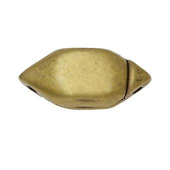 Cymbal magnetiske klapper for GemDuo perler, Ralaki, Diamant Form 15x6.5mm, 1 Sett, Antikk Messing Belagt